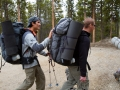 Steve Baskis and Casey Miranda head out from Outward Bound base camp.