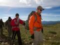Ike Isaacson leads blind soldier Steve Baskis to the summit of James Peak in Colorado.