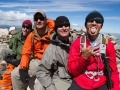 (left to right) Dan Sidles, Aaron Isaacson, Cody Miranda, and Steve Baskis on the summit of James Peak, Colorado.