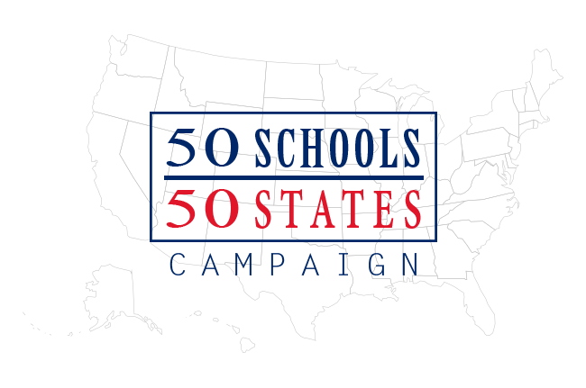 50 Schools / 50 States Logo
