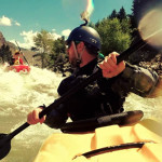 Alex Nielsen Guiding Lonnie Bedwell down the Montana River